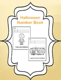 Halloween Number Book Worksheets Numbers 1-10