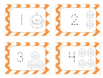 Halloween Number Cards