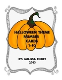 Halloween Number Cards 1-10