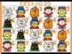 Halloween Number Cards 1-20 Flashcards 6 designs