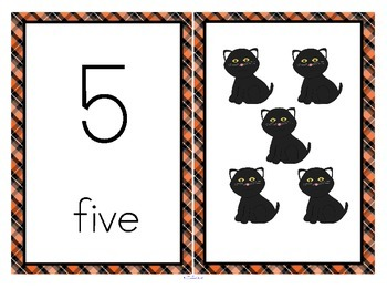 Halloween Number Cards 0-20