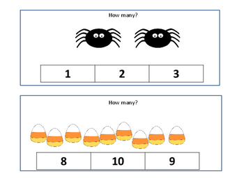 Halloween Number Correspondence: Count and Clip