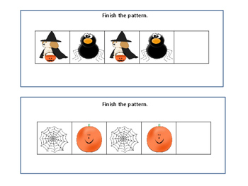 Halloween Math: Complete the Pattern