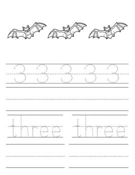 Halloween Number Counting Book 1-10 Printable
