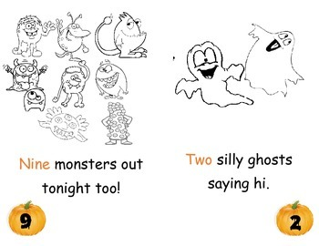 Halloween Number Counting and Coloring Book