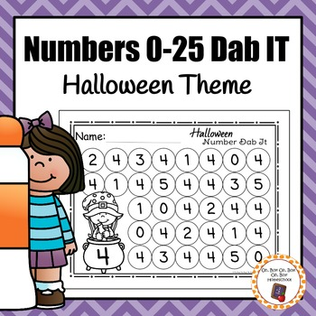 Halloween Number Dab It Worksheets