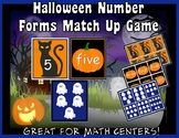 Halloween Number Form Match Up Game