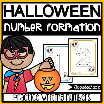 Halloween Number Formation Flashcards