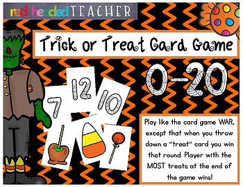 Halloween Numbers 1-20 Trick or Treat War Game