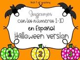 Halloween Number Games in Spanish – Jugamos con los números 1-10