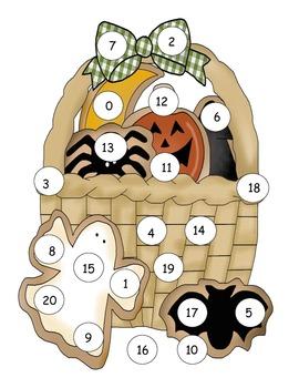 Halloween Number Mat to 20