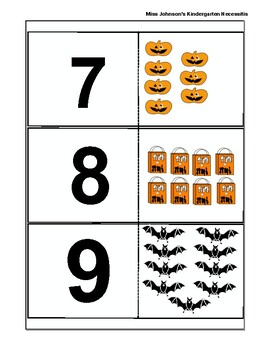 Halloween Number Match 1-20