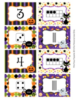 Halloween Number Match Activity