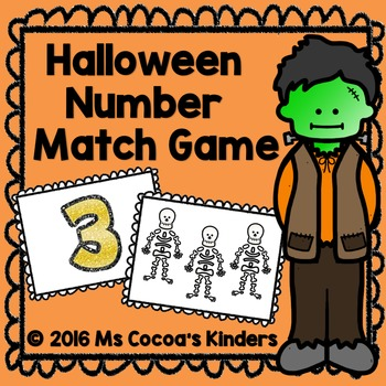 Halloween Number Match Game