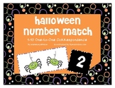 Halloween Number Match & One-to-One Correspondence with Numbers 1-10
