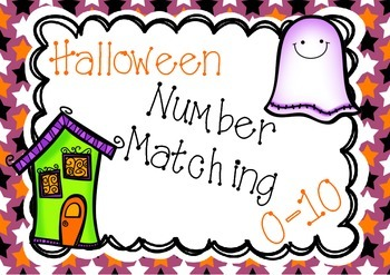 Halloween Number Matching Cards
