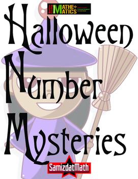 Halloween Number Mysteries: Word Problem Solving 4 Steps!