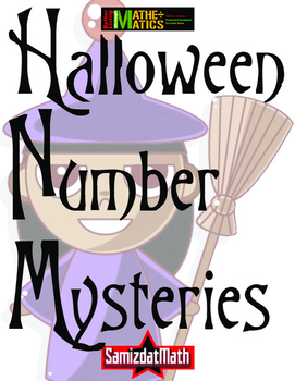 Halloween Number Mysteries: Word Problem Solving 4 Steps!