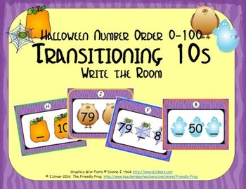 Halloween Number Order 0-100: Transitioning 10s
