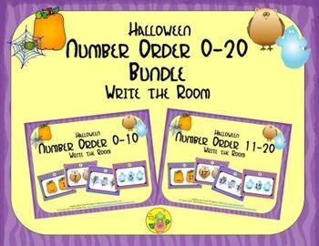 Halloween Number Order 0-20 Bundle