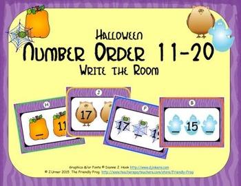 Halloween Number Order 11-20
