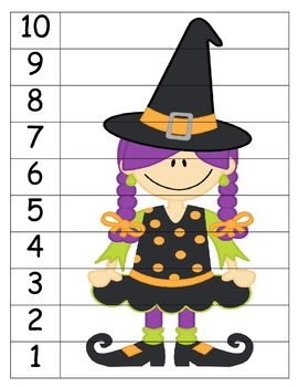 Halloween Number Order Puzzles
