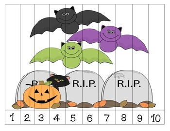 Halloween Number Order Puzzles {Dollar Deal}