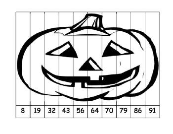 Halloween Number Ordering