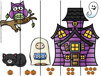 Halloween Number Ordering Puzzles 1-5