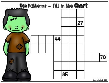 Halloween Number Pattern -  Numeracy Fun Freebie