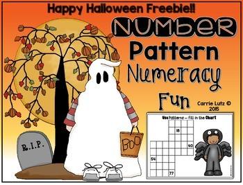 Halloween Number Pattern -  Numeracy Fun Freebie