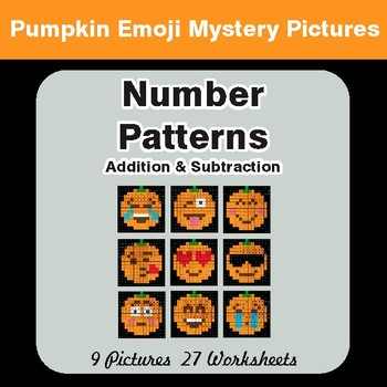 Halloween: Number Patterns: Misc Operations - Color-By-Number Mystery Pictures