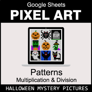 Halloween - Number Patterns: Multiplication & Division - Google Sheets