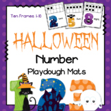 Halloween Number Playdough Mats - Ten Frames