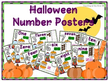 Halloween Number Posters 0-10