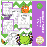 Halloween Number Practice 3 Sets