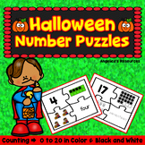 Halloween Activities : Number Tracing - Fine Motor Skills - Counting Numbers