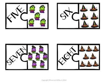 Halloween Number Puzzles (1-20)