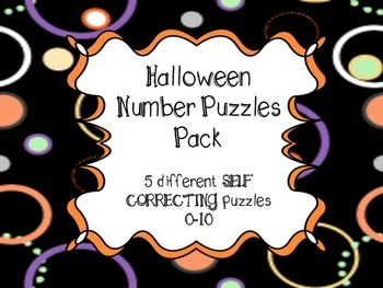 Halloween Number Puzzles Pack