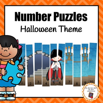 Halloween Number Puzzles for Rote and Skip Counting