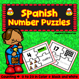 Spanish Halloween Activities: Rompecabezas de Los Numeros - Number Sense
