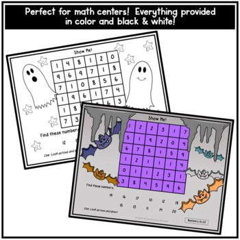 Halloween Number Recognition Activity