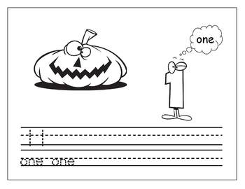 Halloween Number Recognition and Counting Activity