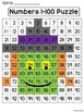 Halloween Math Center: Number Sense 100 Chart Puzzle (Witch)