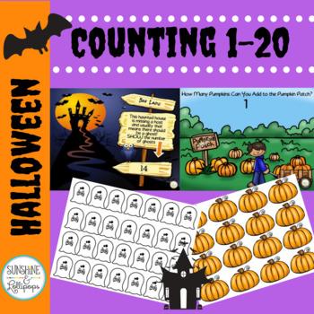 Halloween Math Activities Number Sense Kindergarten