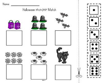 Halloween Number Sense Math Centers