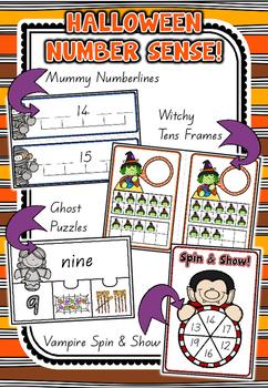 Halloween Number Sense Math Centres