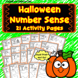 Halloween Activities Number Sense: Number Tracing - Counting- Ten Frames