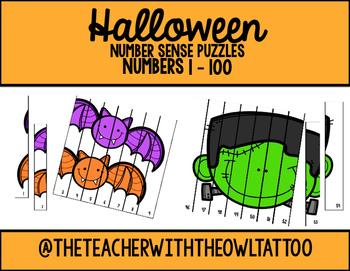 Halloween Number Sense Puzzles