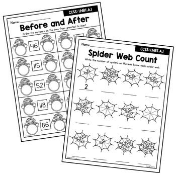 Halloween Number Sense Worksheets